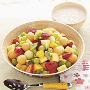Fruit Salad with Banana Dressing Recipe