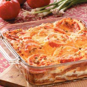 Tomato and Cheese Strata Recipe