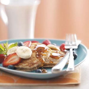 Honey Wheat Pancakes Recipe