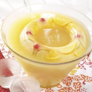 Golden Fruit Punch with Ice Ring Recipe