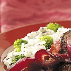 Broccoli Blue Cheese Rice Recipe