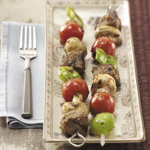 Sesame Beef  'n' Veggie Kabobs Recipe