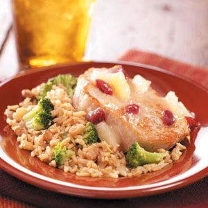 Cranberry-Pineapple Pork Chops Recipe