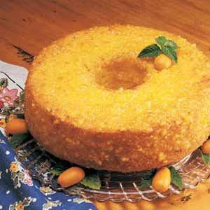 Orange-Glazed Sponge Cake Recipe