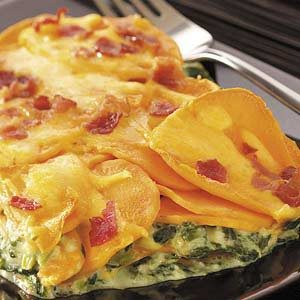 Sweet Potato Spinach Bake Recipe