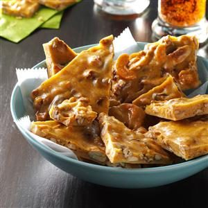 Spiced Rum-Nut Brittle