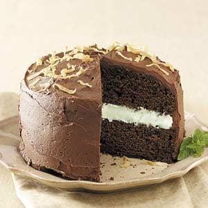 Coconut-Mint Chocolate Cake Recipe