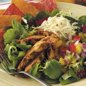 Spicy Chicken Salad with Mango Salsa