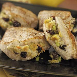 Cherry Stuffing Pork Chops Recipe