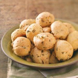 Basil Parmesan Puffs Recipe