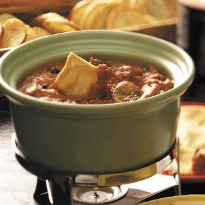 Ground Beef Pizza Fondue Recipe