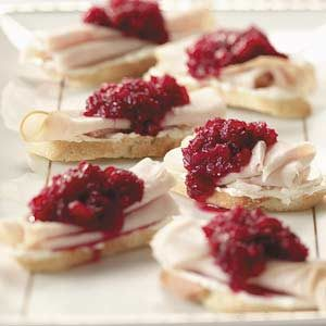 Cranberry Turkey Crostini