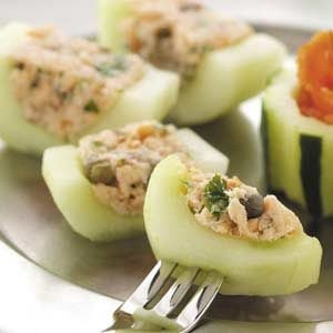 Smoked Salmon Cucumber Canapes Recipe