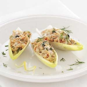 Salmon Salad-Stuffed Endive Leaves Recipe