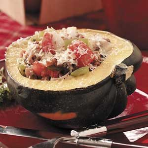 Italian Sausage-Stuffed Squash Recipe