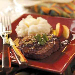 Peach-Glazed Beef Filets Recipe