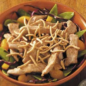 Crunchy Asian Pork Tenderloin Salad Recipe