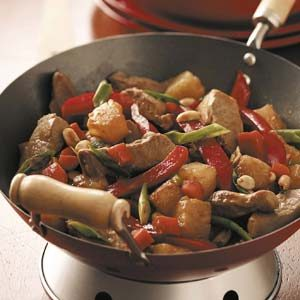 Peanutty Pork Stir-Fry Recipe