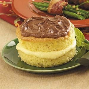 Boston Cream Sponge Cakes Recipe