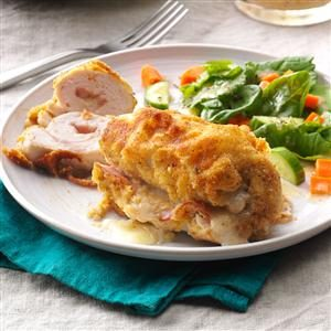 Golden Chicken Cordon Bleu Recipe