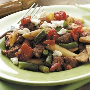 Greek-Style Beef Supper Recipe