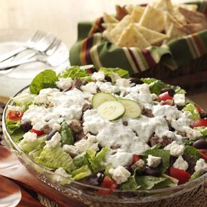 Gyro Salad with Tzatziki Dressing Recipe