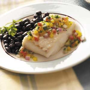 Halibut with Vegetable Salsa Recipe