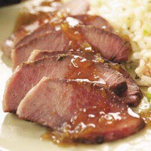 Steak with Orange-Thyme Sauce