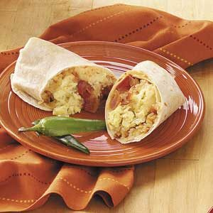 Brunch Egg Burritos Recipe