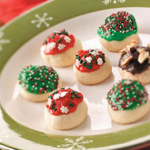 Glazed Cherry Bon Bon Cookies Recipe