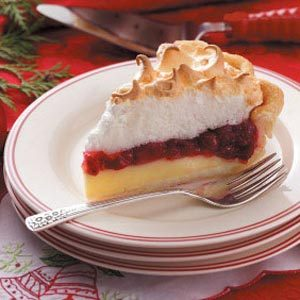 Cranberry Custard Meringue Pie