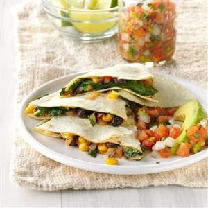 Black Bean 'n' Corn Quesadillas Recipe