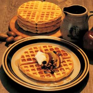 Grandpa's Autumn Waffles Recipe