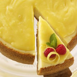 Golden-Glazed Lemon Cheesecake Recipe