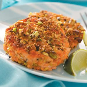 Pistachio-Crusted Salmon Cakes Recipe