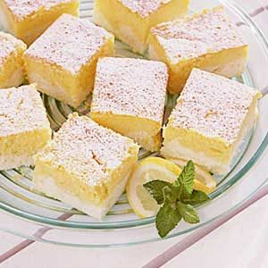 Lemon Ricotta Cheesecake Squares Recipe