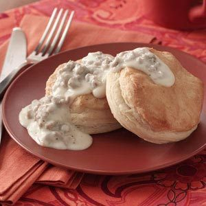 Biscuits with Turkey Sausage Gravy