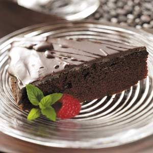 Ganache-Topped Chocolate Cake Recipe