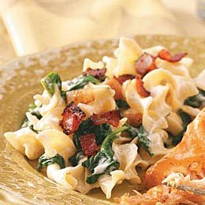 Creamy  Spinach Noodle Toss Recipe