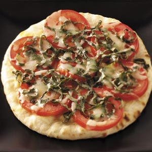 Tomato-Basil Pita Pizzas Recipe