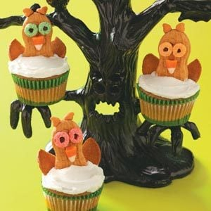 Wide-Eyed Owl Cupcakes