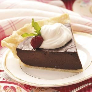 Dark Chocolate Cream Pie Recipe