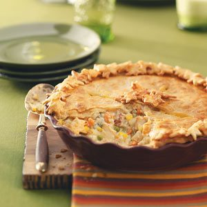 Golden Chicken Pot Pies Recipe