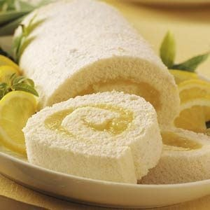 Moist Lemon Angel Cake Roll