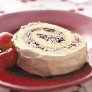 Chocolate Cherry Cake Roll Recipe