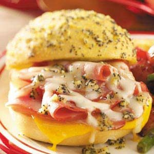 Baked Ham and Colby Sandwiches Recipe