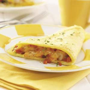 Hearty Shrimp Omelet Recipe