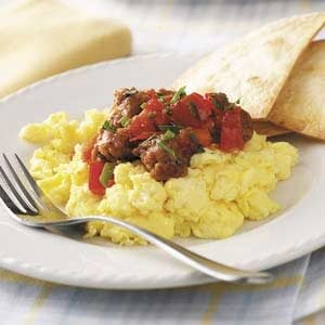 Scrambled Eggs with Chorizo Recipe photo by Taste of Home