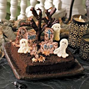 Ghosts in the Graveyard Cake Recipe