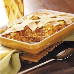 Chicken and Cheddar Tortilla Bake